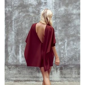 LULU'S Best is yet to come backless dress